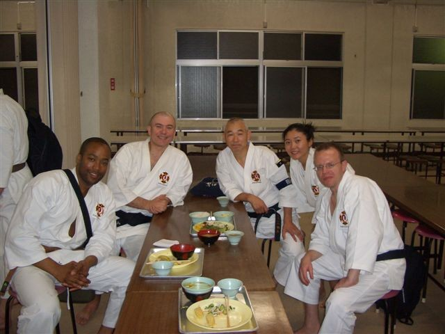 Reunion with Hiate Sensei at Hombu, Oct. 2005